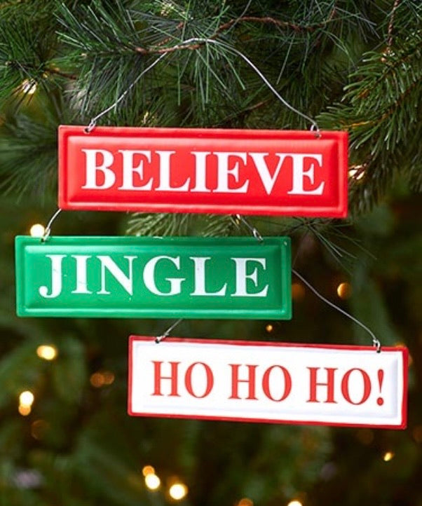 Christmas Signs Ornament