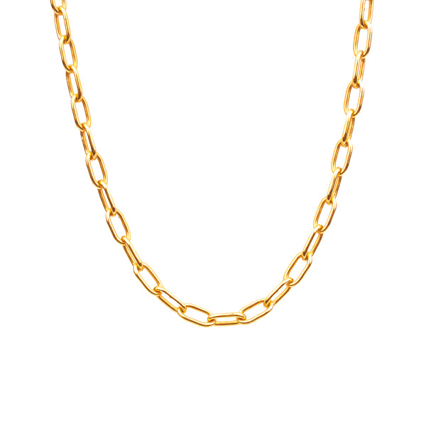 Large Oval Chain Necklace - NECKLACE - [variant.title]- Borboleta