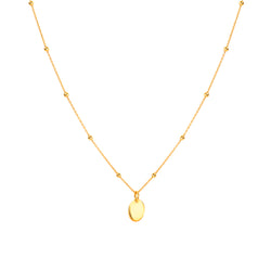 Small Plain Medallion Necklace - NECKLACE - [variant.title]- Borboleta