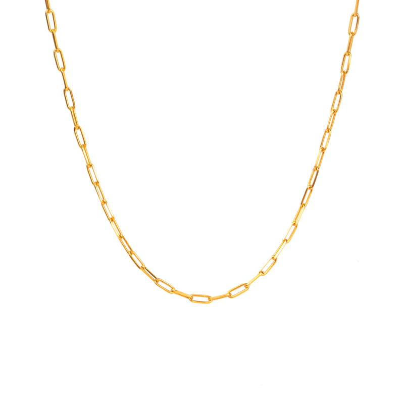 Small Oval Chain Necklace - NECKLACE - [variant.title]- Borboleta