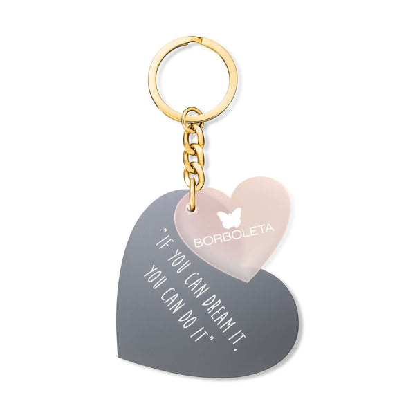 Two Hearts Keychain
