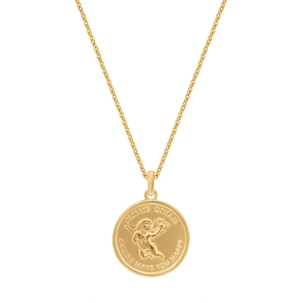 Angel Medallion Necklace - NECKLACE - [variant.title]- Borboleta