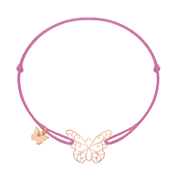 Lace Butterfly Bracelet - Rose Gold Plated
