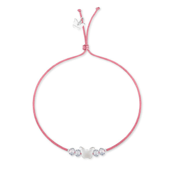 Bubble Crystal Butterfly Bracelet - White Gold Plated - BRACELET - [variant.title]- Borboleta