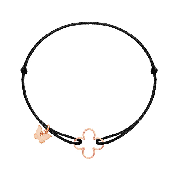 Hole Clover Bracelet - Rose gold plated