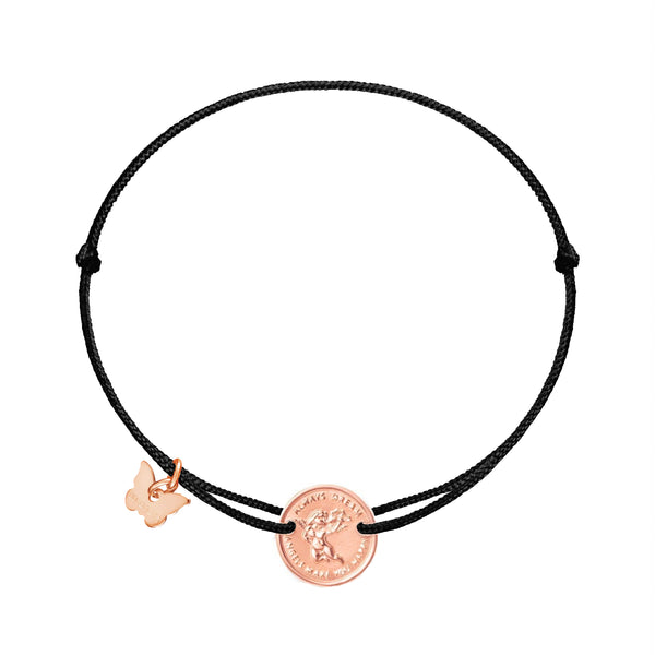 Angel Medallion Bracelet Rose Gold Plated - BRACELET - [variant.title]- Borboleta