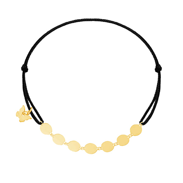 Round Plates Bracelet - Yellow Gold Plated