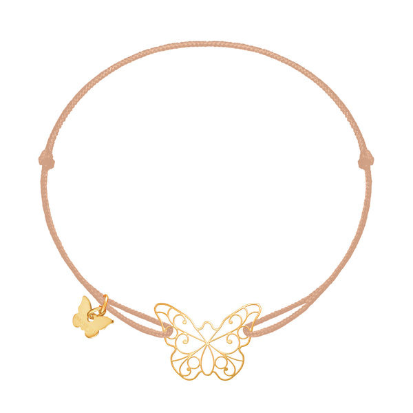 Lace Butterfly Bracelet - Yellow Gold Plated