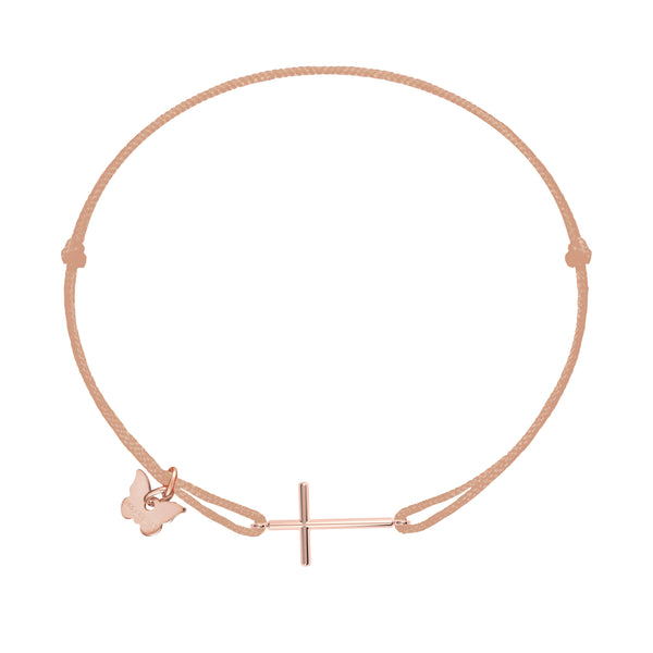Classic Cross Bracelet - Rose Gold Plated