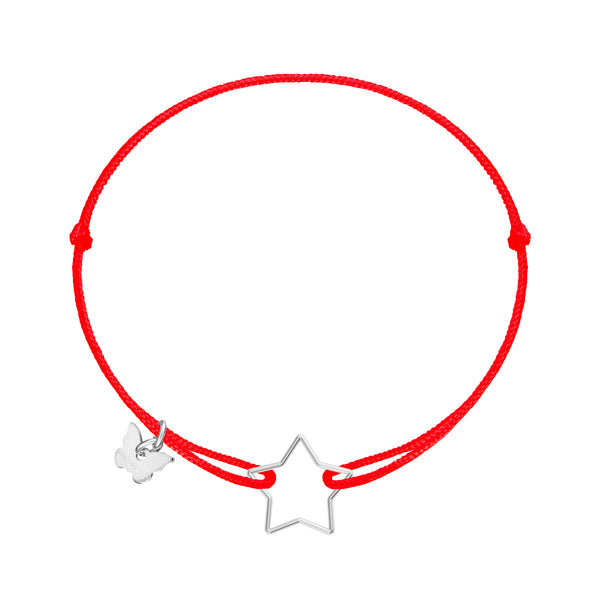 Hole Star Bracelet - White Gold Plated