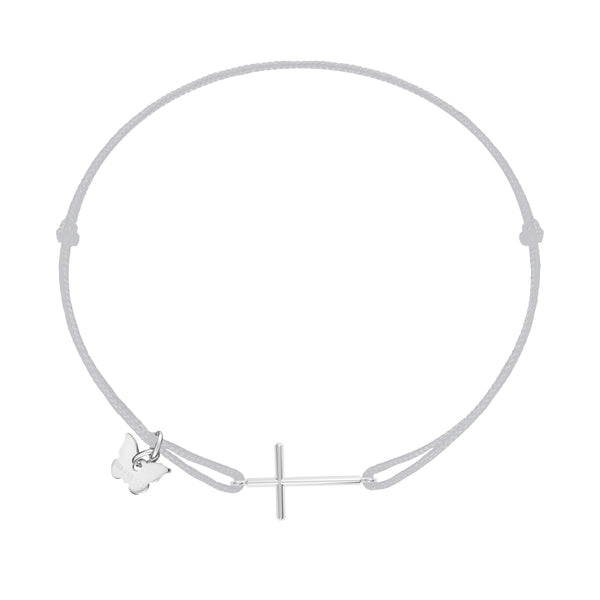 Classic Cross Bracelet - White Gold Plated
