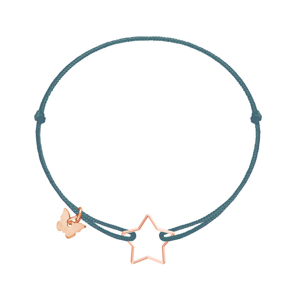 Hole Star Bracelet - Rose gold plated