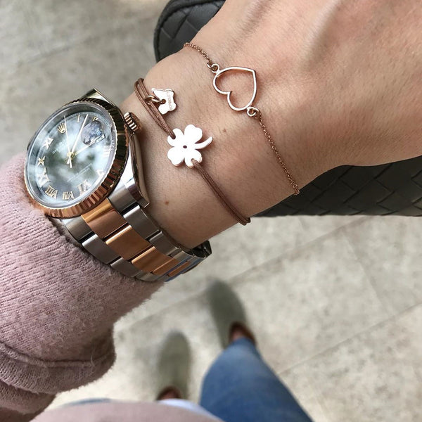 Classic Clover Bracelet - White Gold Plated