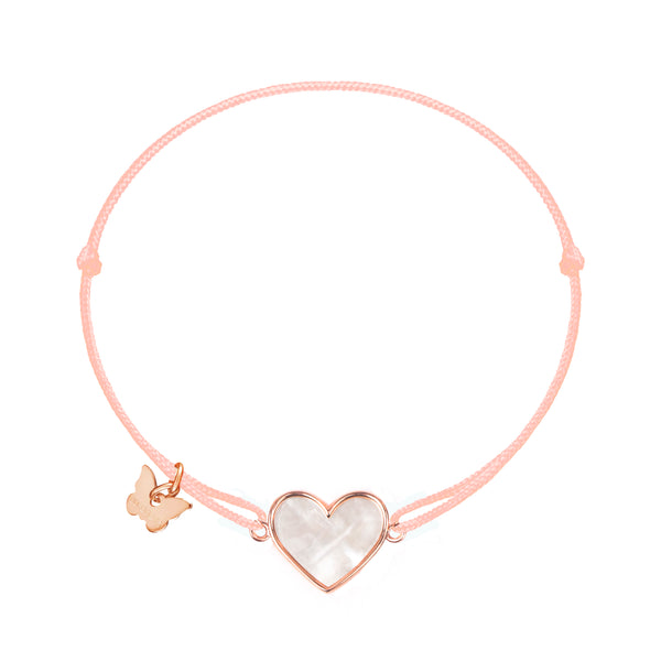 Mother of Pearl Heart Bracelet - BRACELET - [variant.title]- Borboleta