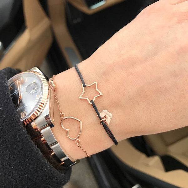 Hole Star Bracelet - Rose gold plated - BRACELET - [variant.title]- Borboleta