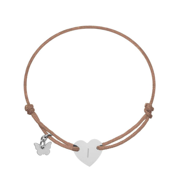 Love Letter 'I' on Heart Bracelet