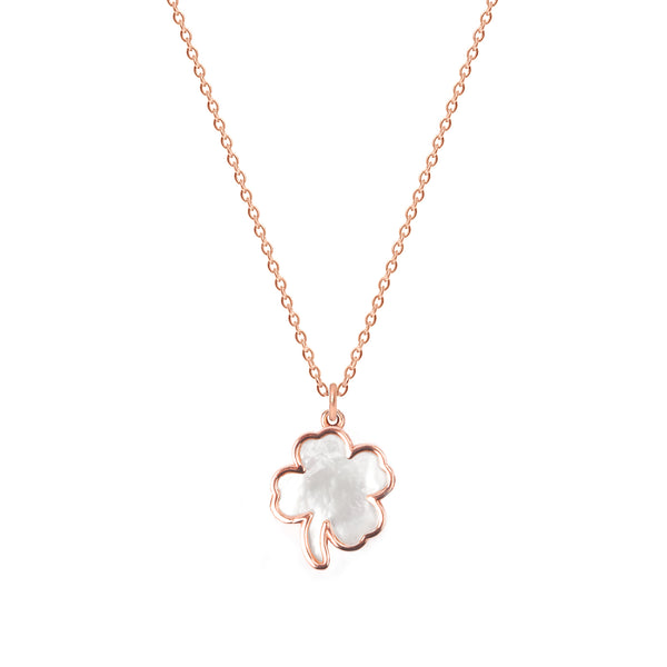 Mother of Pearl Clover Necklace
