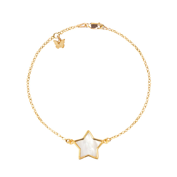 Sterling Silver Mother of Pearl Star bracelet