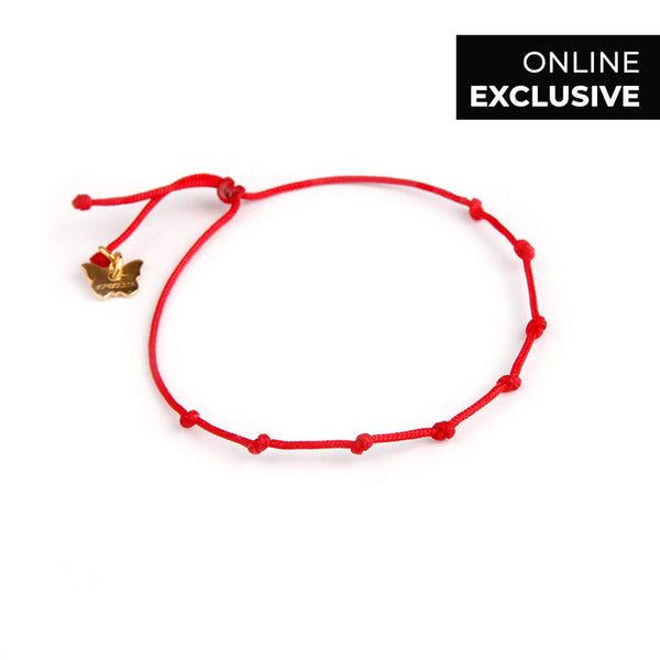LUCKY RED STRING No.8 - BRACELET - [variant.title]- Borboleta