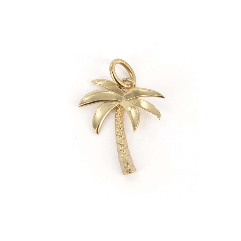 925 Collectable Charm - Gold Plated Big Palm - PENDANT - [variant.title]- Borboleta