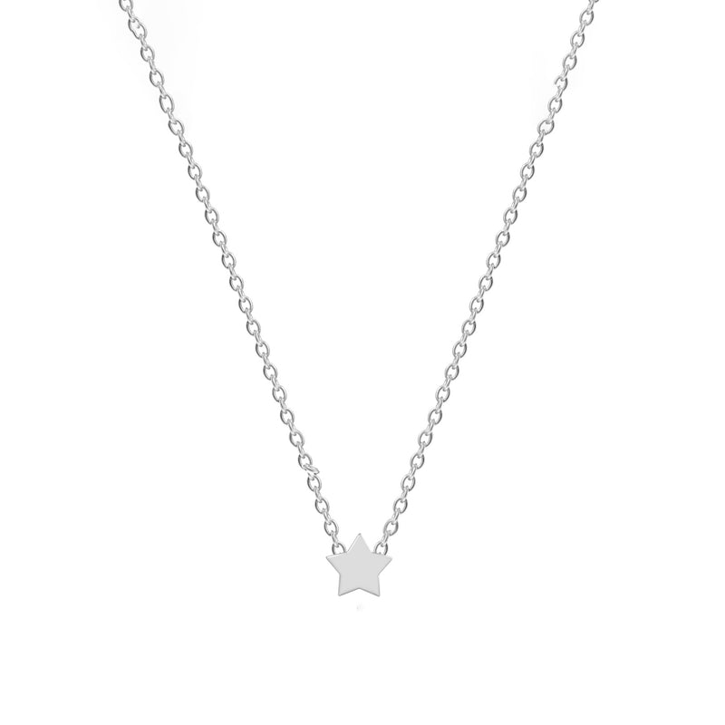Sterling Silver Lucky Star Necklace - NECKLACE - [variant.title]- Borboleta