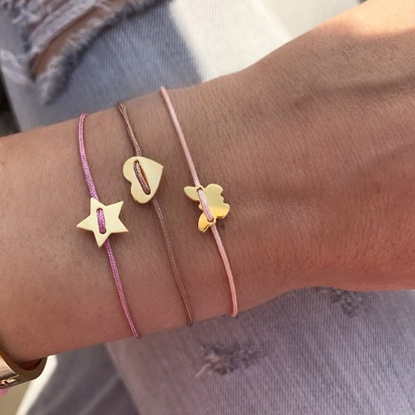 Small Heart Bracelet - Rose gold plated - BRACELET - [variant.title]- Borboleta