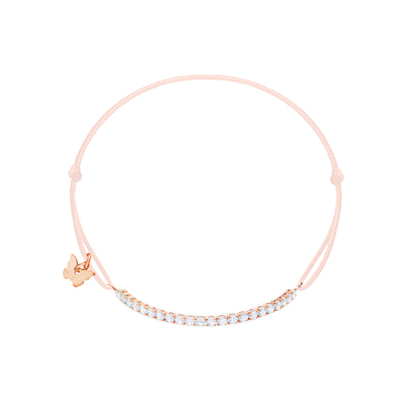 Small Tennis Bracelet - Rose Gold Plated - BRACELET - [variant.title]- Borboleta