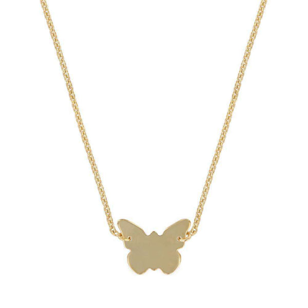 Sterling Silver Butterfly Necklace - NECKLACE - [variant.title]- Borboleta