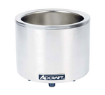 Adcraft - FW-1200WR - Quickship Food Warmer Round Cooker 7/11 Quart Stainless Steel