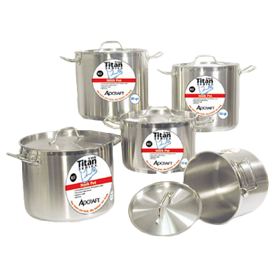 Adcraft - SSP-80 - Admiral Craft|Ssp-80|Titan Series Induction Stock Pot W/Cover 80 Qt.