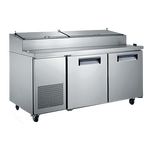 Adcraft - USPZ-2D - U-Star Refrigerated Pizza Prep Table 17.0 Cu. Ft.