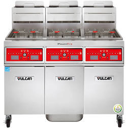 "Vulcan PowerFry Gas Fryer 63"" W - 3VK85DF"