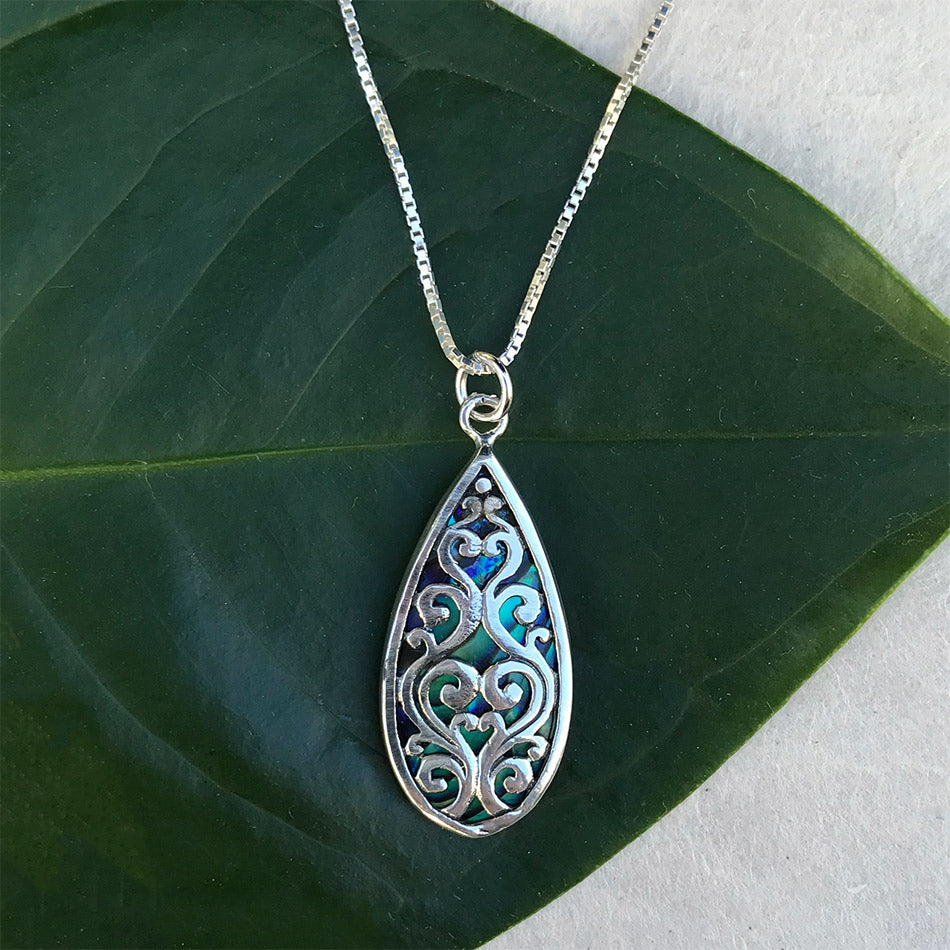 Burung Abalone Necklace - Sterling Silver, Indonesia