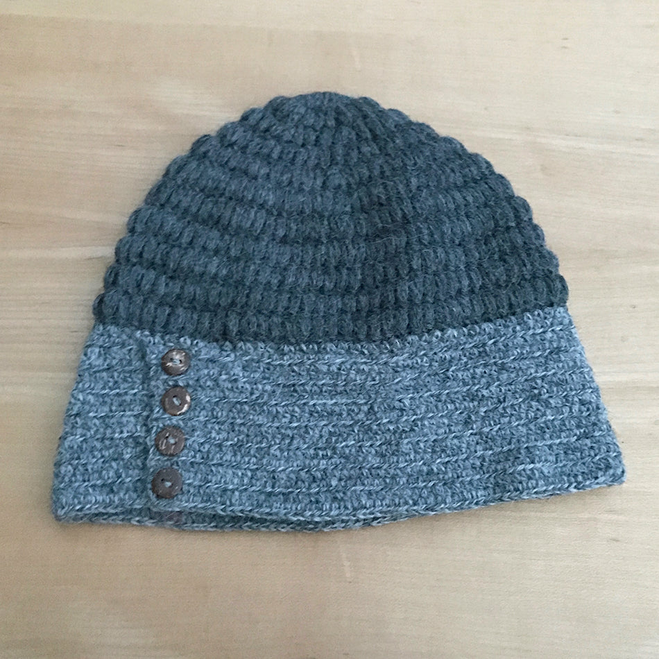 Luxurious Alpaca Cable Hat -Charcoal, Peru