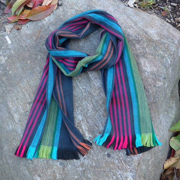 Luxurious handmade Fair Trade alpaca scarf Ecuador