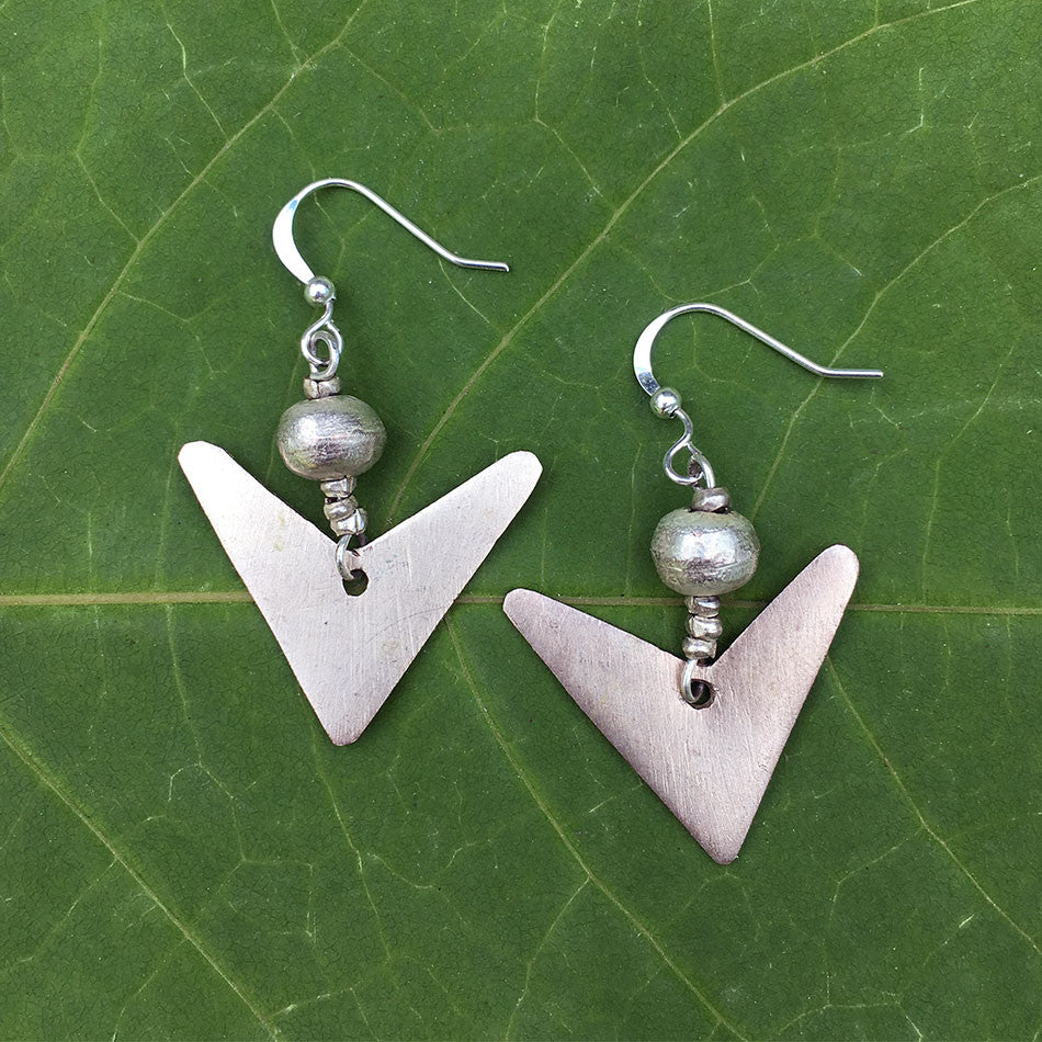 Living Well Earrings - Silver, Ethiopia