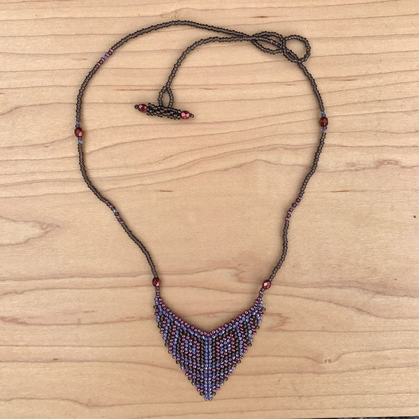 Tribal Arrow Necklace - Orchid, Guatemala