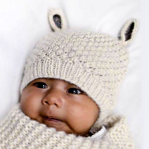 Fair trade alpaca baby hat handmade in Peru