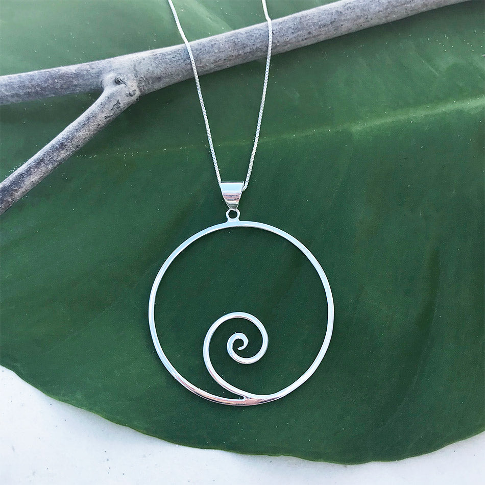 Fair trade sterling silver pendant handmade by artisans in Bali