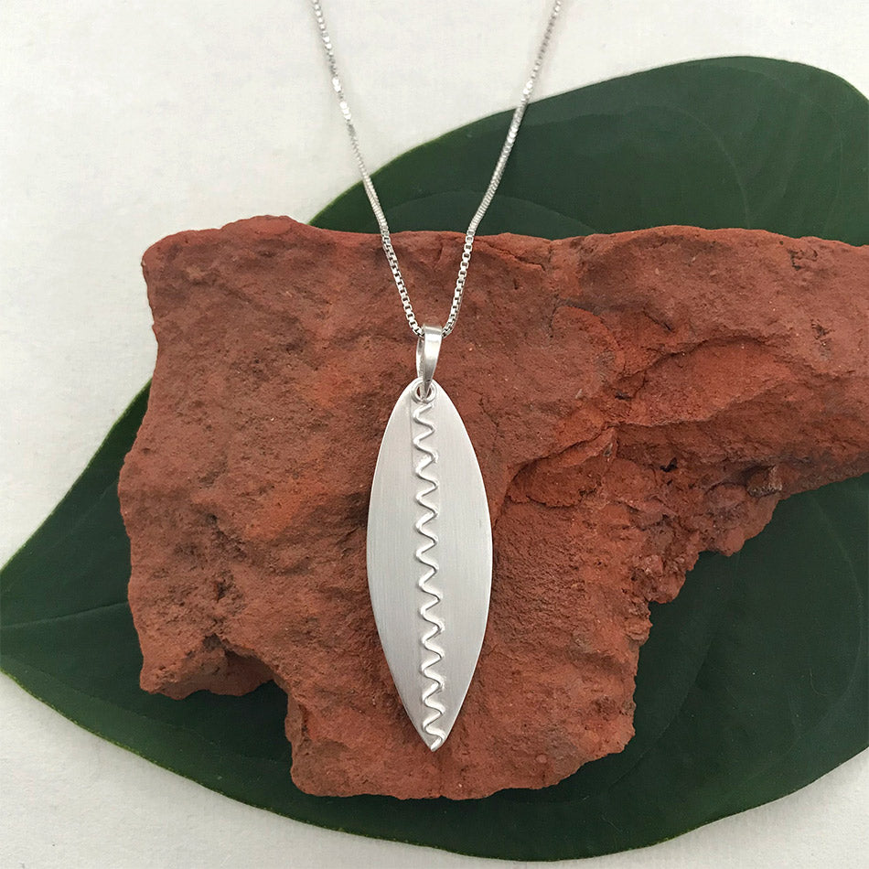 A New Leaf Necklace - Sterling Silver, Indonesia