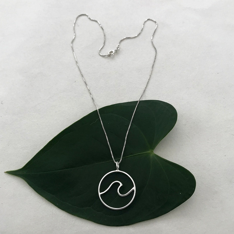 Fair trade sterling silver necklace handmade by artisans in Bali