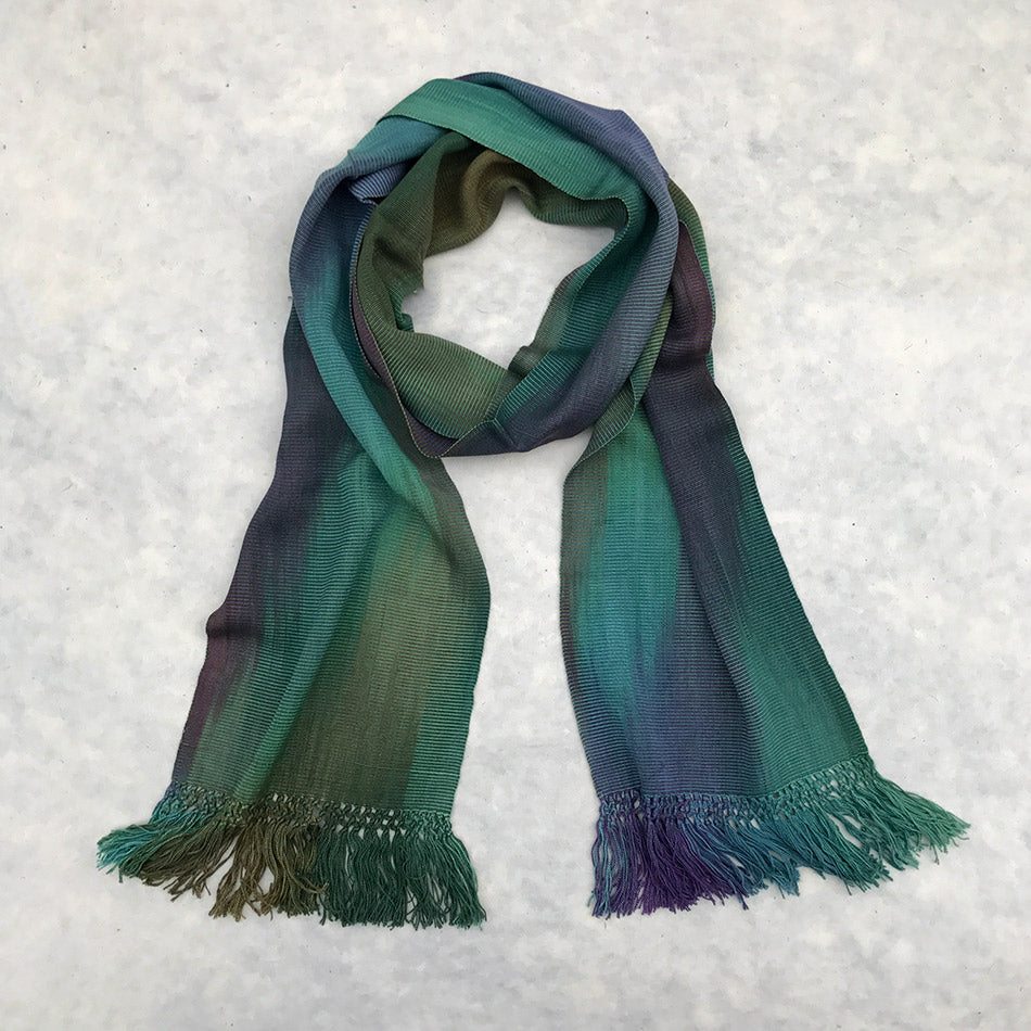 Fair trade organic bamboo scarf handmade by women in Guatemala.