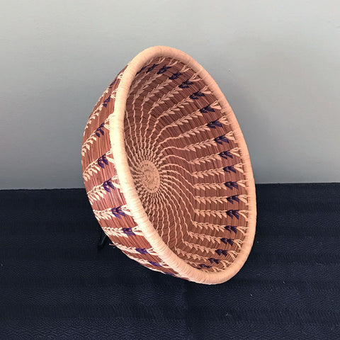 Fair trade pine needle basket handmade in Guatemala