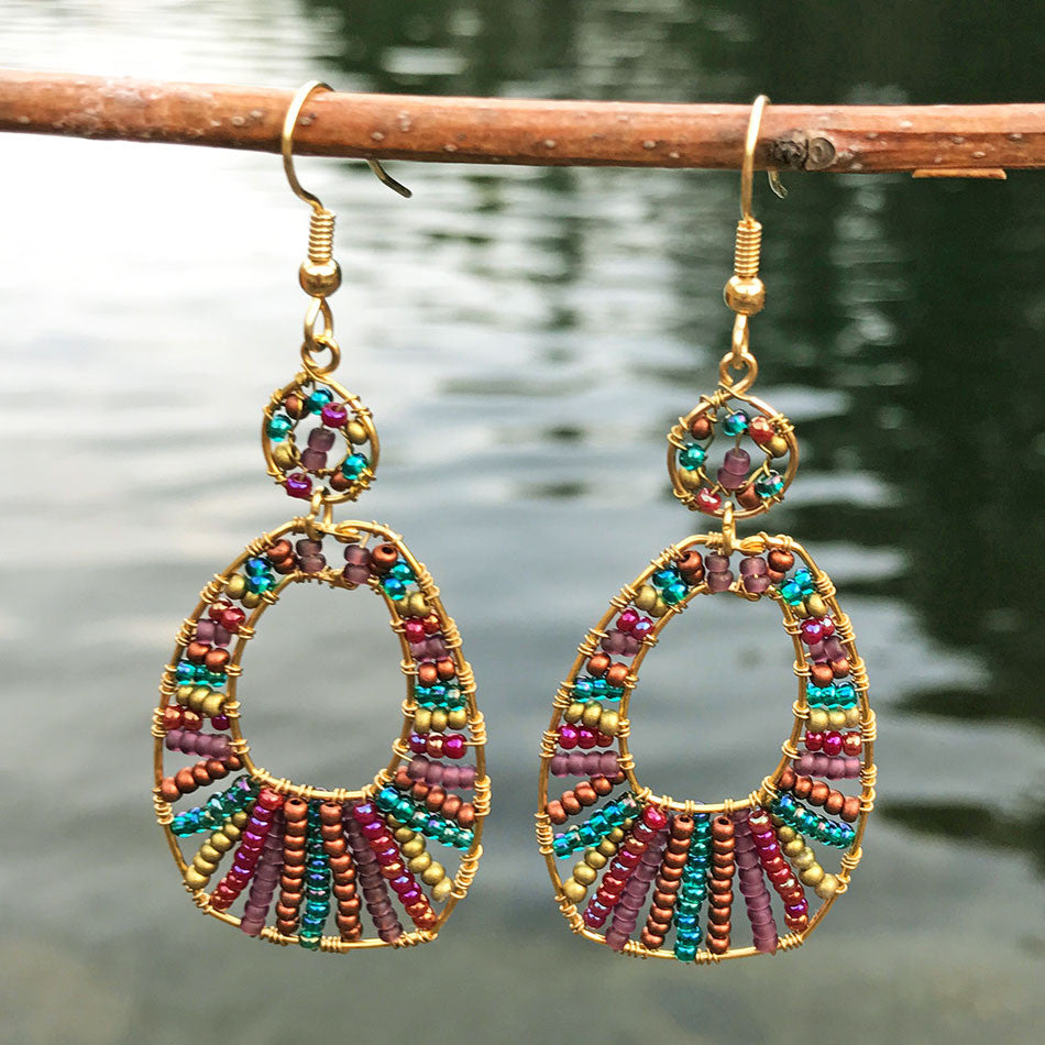 Fair trade beaded earrings Guatemala