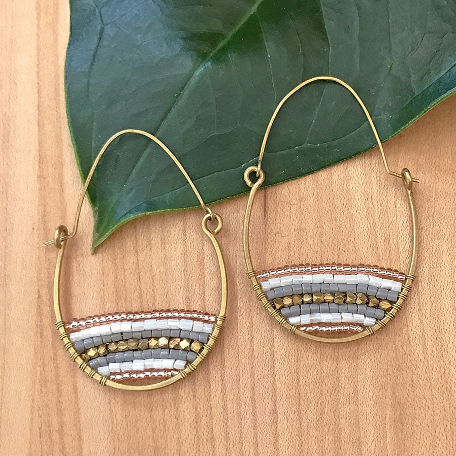 fair trade beaded earrings handmade by survivors of human trafficking India