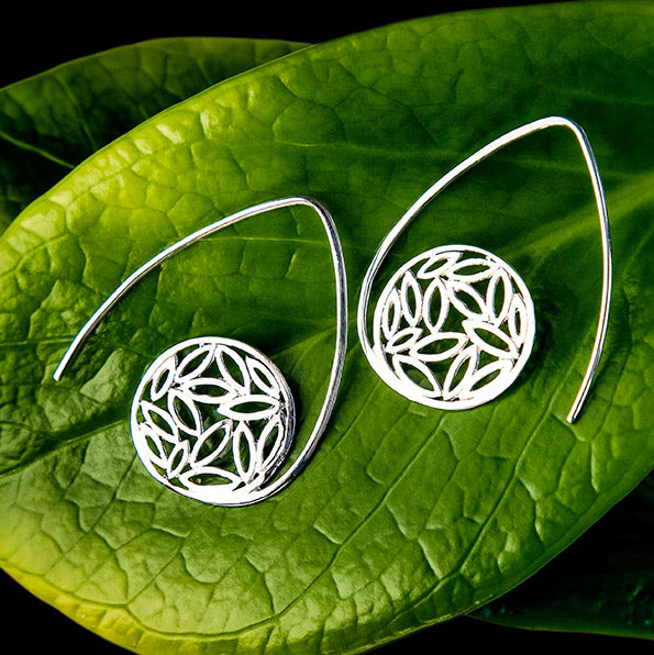 Fair trade sterling silver earrings handmade in Bali