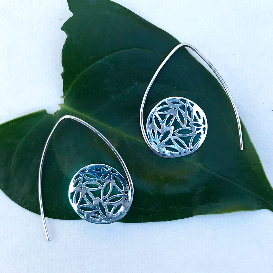 Bentuk Earrings - Sterling Silver, Indonesia
