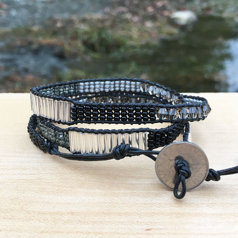 Eternally Loved Wrap Bracelet - Black, Guatemala