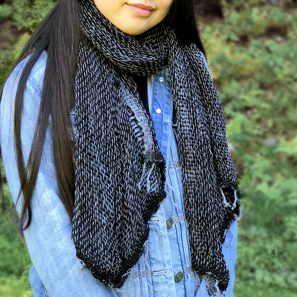 Organic cotton fair trade scarf handmade by women in Thailand