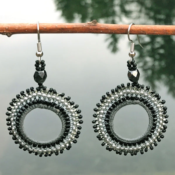 Handmade fair trade beaded earrings Guatemala.